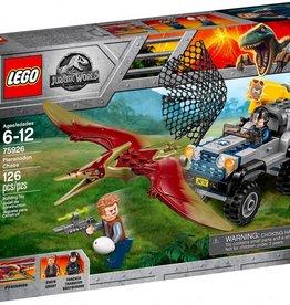 Lego LEGO Jurassic world - Véhicule de chasse avec ptéranodon