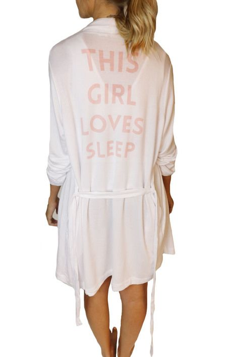 d77d0e5ceb SLEEP by PRIV This Girl Loves Sleep Graphic Robe in White