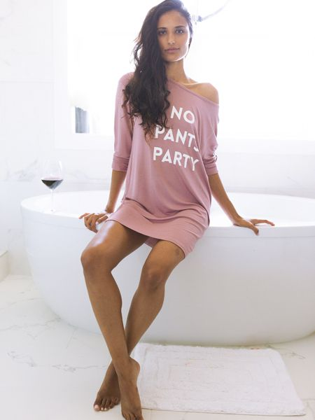 SLEEP by PRIV No Pants Party Nighty in Dusty Rose