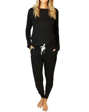 Wildest Dreams Slouchy PJ Set in Black