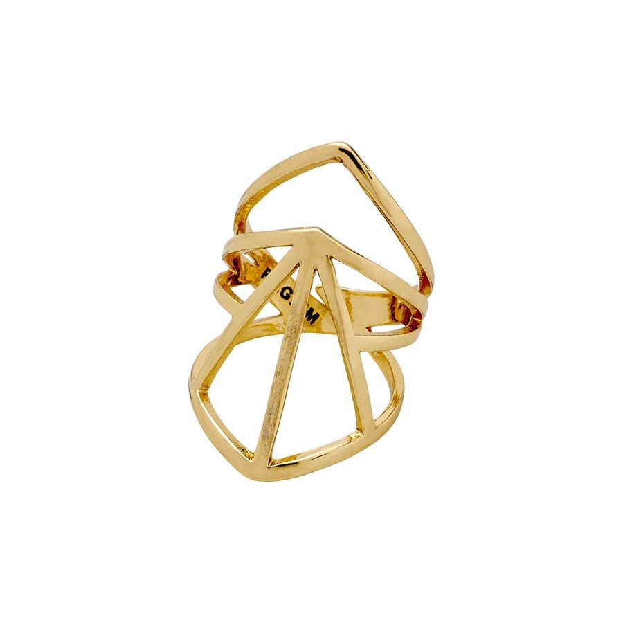 Pilgrim Pilgrim Gold Plated Ring