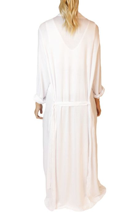 SLEEP by PRIV Freefall Luxe Maxi Robe in White