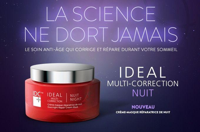 IDC Dermo IDÉAL Multi-Correction – Crème Réparatrice de Nuit