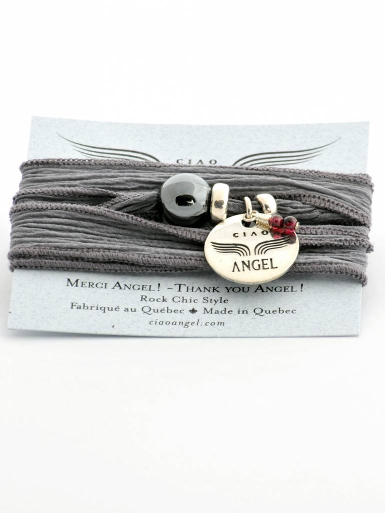 "Ciao Angel ""Merci Angel"" Hermatite Bracelet"