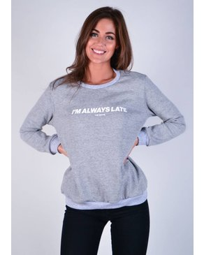 Dailystory Always Late fleece crewneck