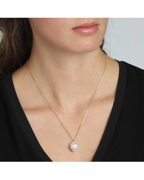 Pilgrim Pilgrim Gold Pearl Ama Necklace