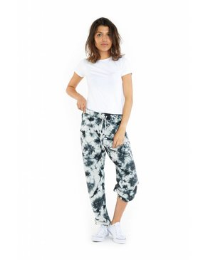 LAZYPANTS The Niki Tie Dye In Black