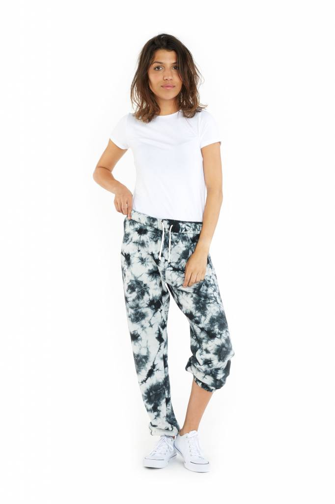 LAZYPANTS The Niki Tie Dye en noir