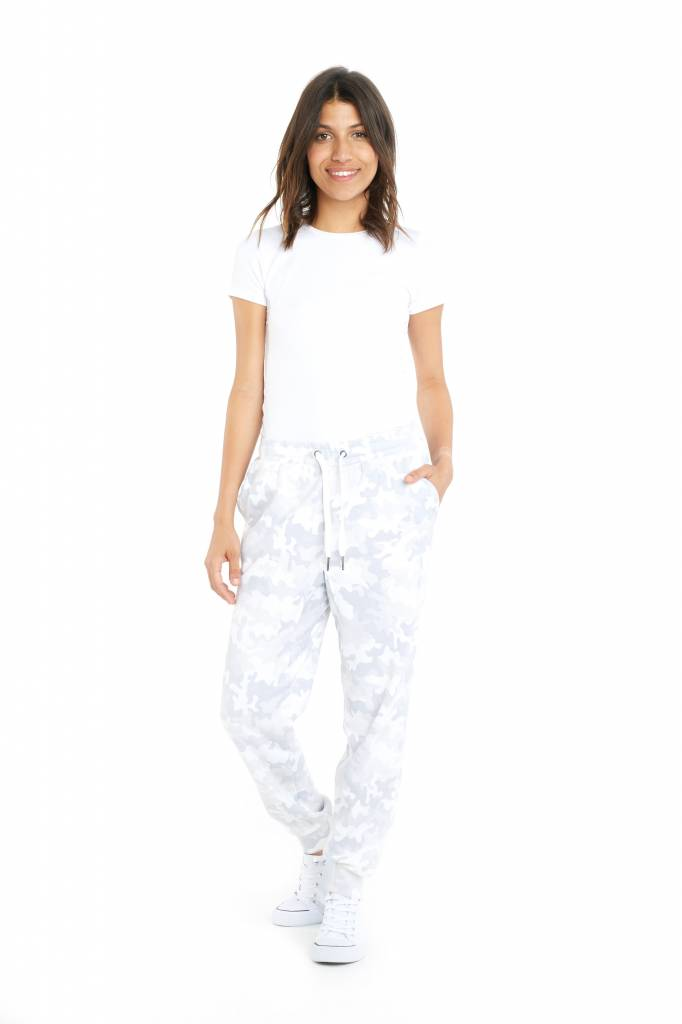 LAZYPANTS The Riley Relaxed Jogger In White Camo