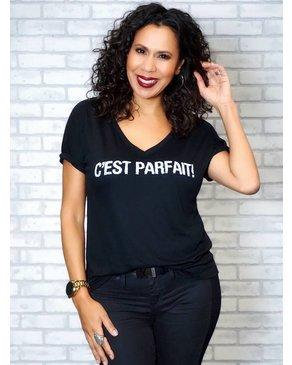 Picoum C'EST PARFAIT! - T-Shirt (Noir)