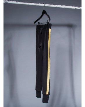 CHRLDR GOLD TUXEDO STRIPE — Stripe Sweatpants