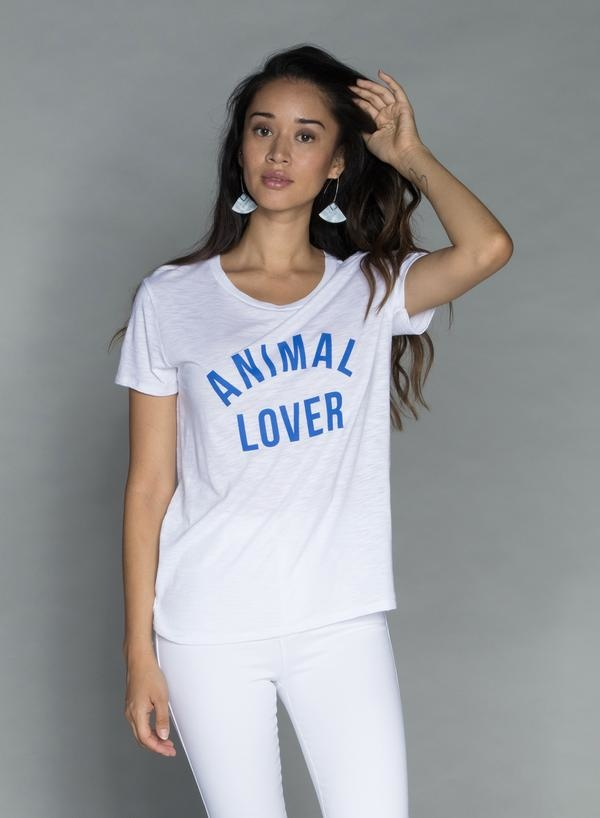 CHRLDR ANIMAL LOVER —  T-Shirt Classique