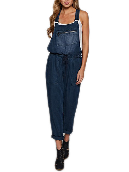 PRIV Now Or Never Dark Chambray Overalls