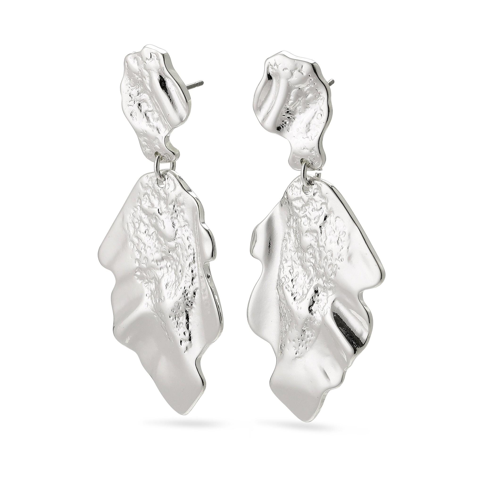 Pilgrim Pilgrim Valkyria Silver Statement Earrings