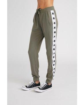 CHRLDR TUXEDO STARS — Flat Pocket Sweatpants