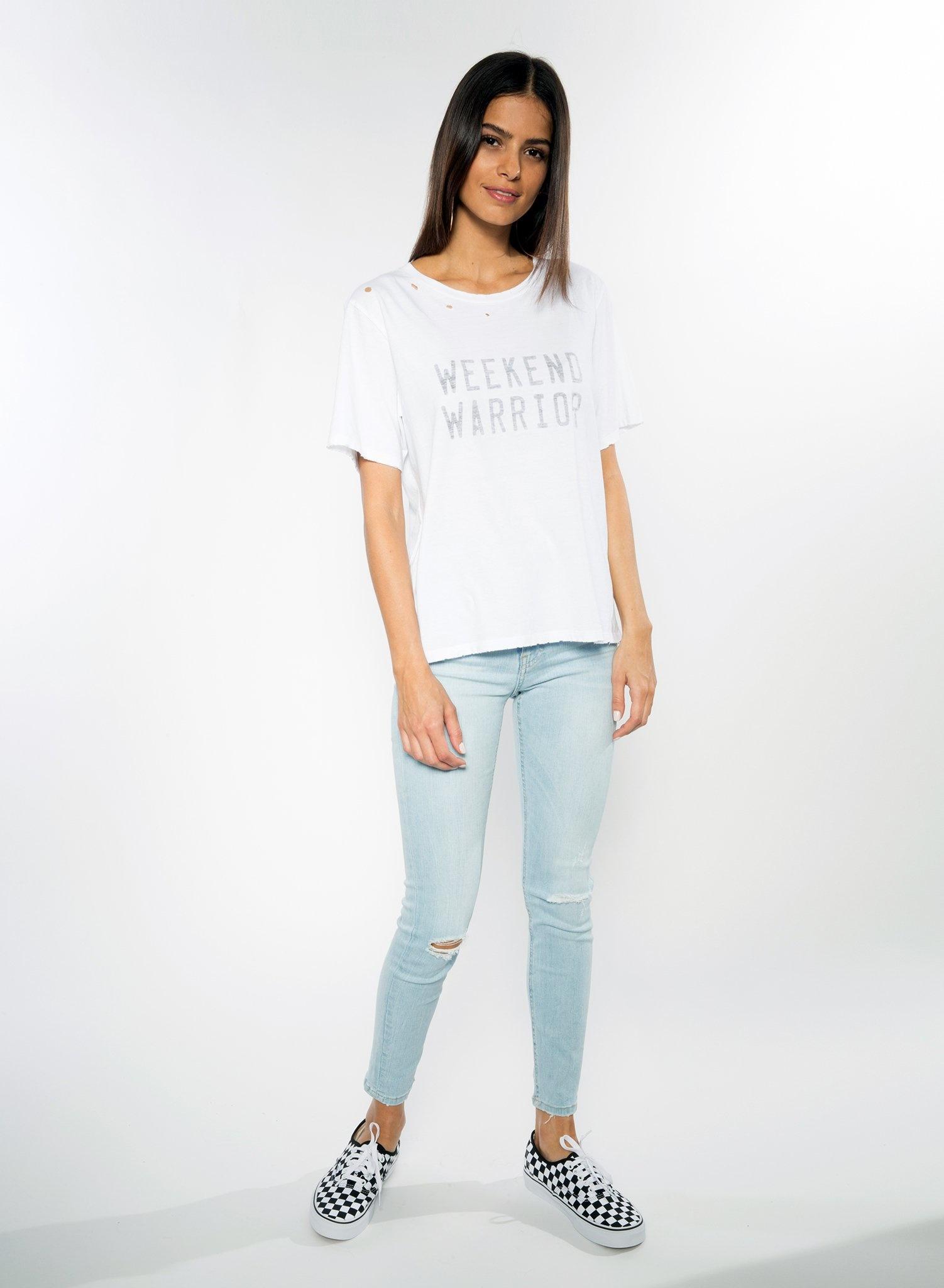 CHRLDR WEEKEND WARRIOR — Wide T-Shirt