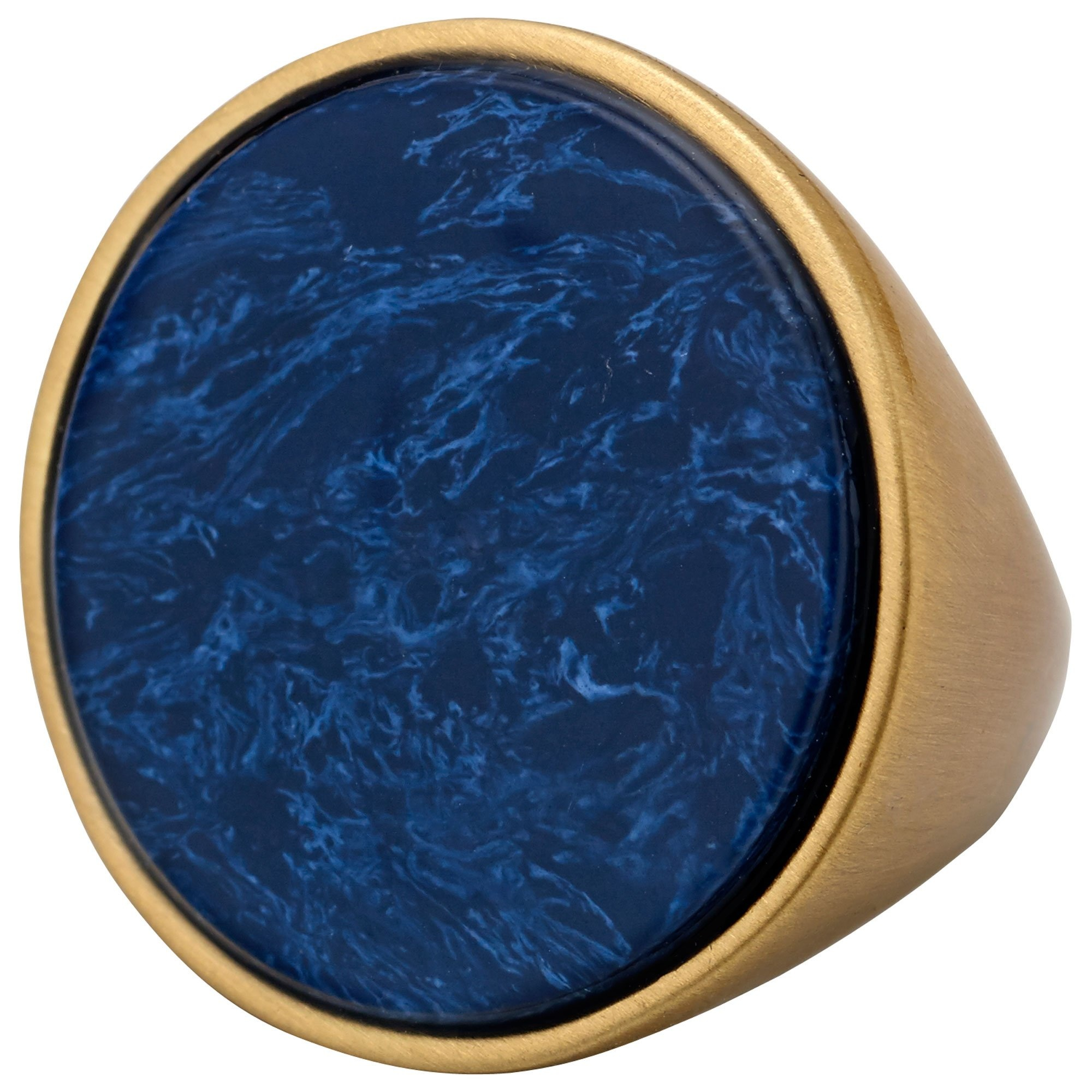Pilgrim Grosse bague Or et Bleu