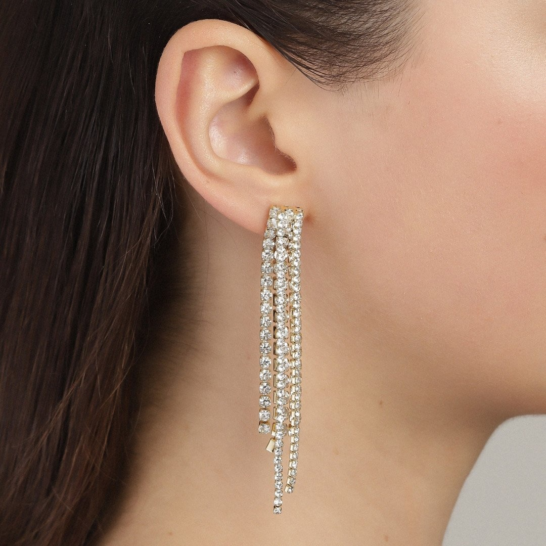 Pilgrim Rachel Gold Plated Crystal Earrings