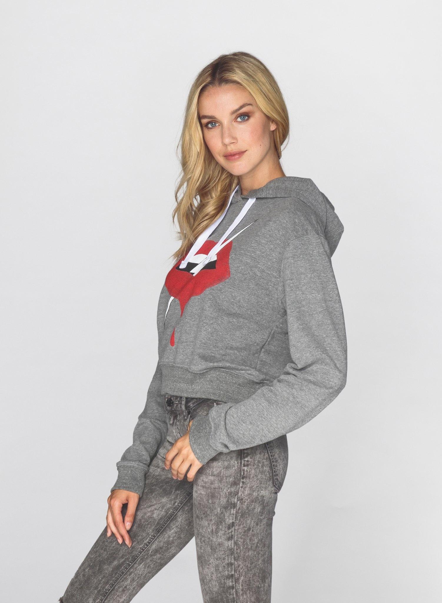 CHRLDR LIPS - Crop Pullover Hoodie