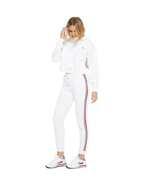 LAZYPANTS The Lucas Striped Jogger in White