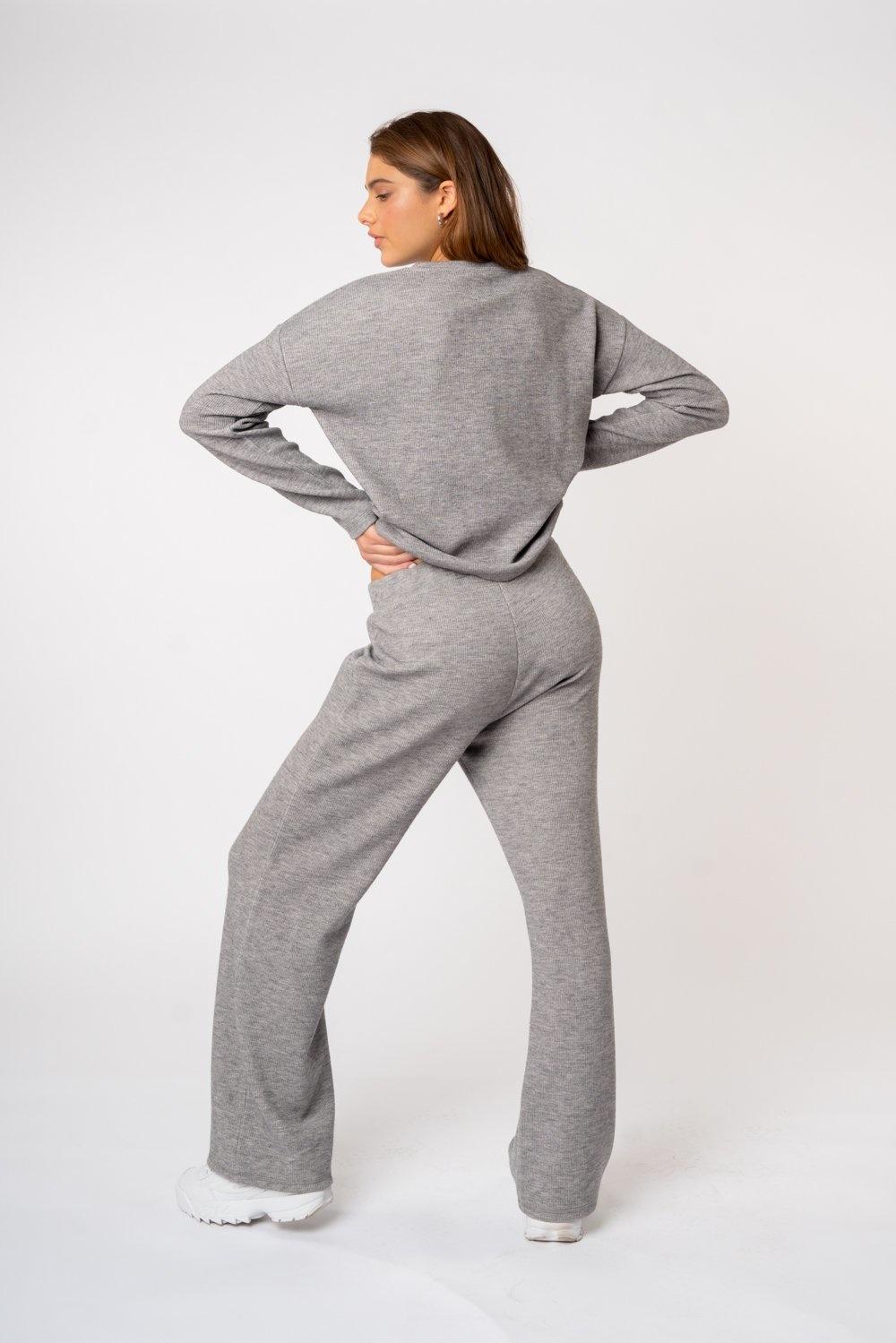 Kuwalla Tee  Pantalon jambes larges en maille côtelée