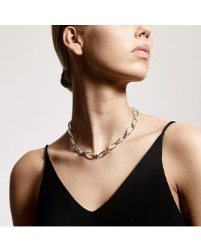 Pilgrim Pilgrim Wisdom Silver Chain Link Necklace