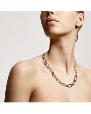 Pilgrim Pilgrim Wisdom Gold Chain Link Necklace