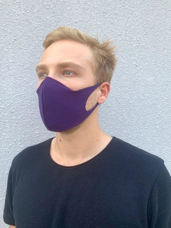 Boss Masks Fabric Face Masks - 5 Pack - PURPLE