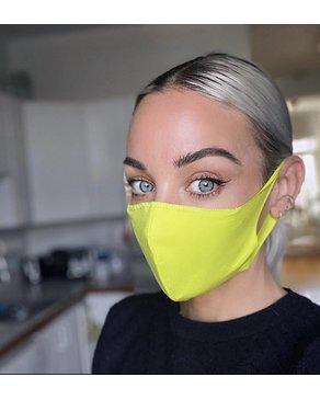 Boss Masks Fabric Face Masks - 5 Pack - NEON YELLOW