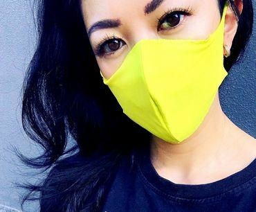 Boss Masks Fabric Face Masks - 5 Pack - NEON YELLOW