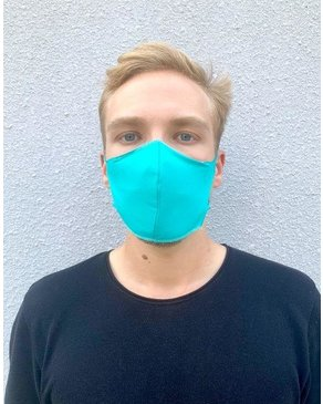 Boss Masks Fabric Face Masks - 5 Pack - TURQUOISE