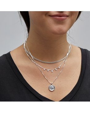 Pilgrim Pilgrim Silver 2-in-1 Necklace Set : Air