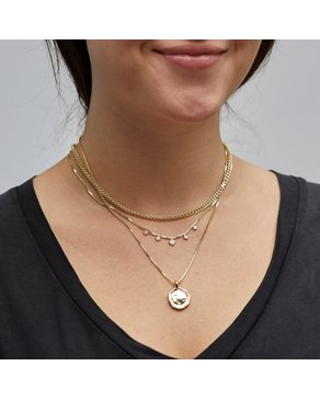 Pilgrim Pilgrim Gold 2-in-1 Necklace Set : Air
