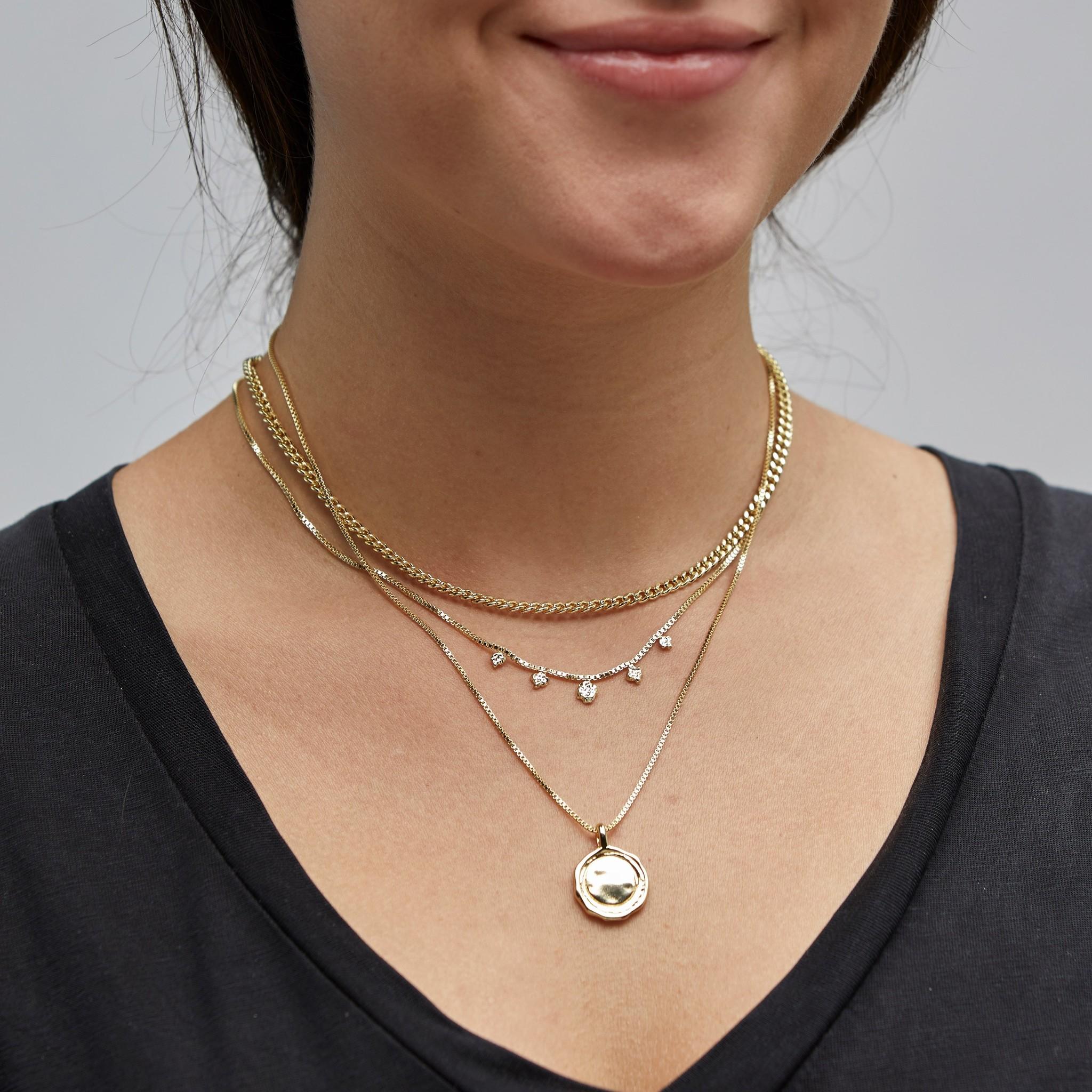 Pilgrim Pilgrim Gold 2-in-1 Necklace Set : Air