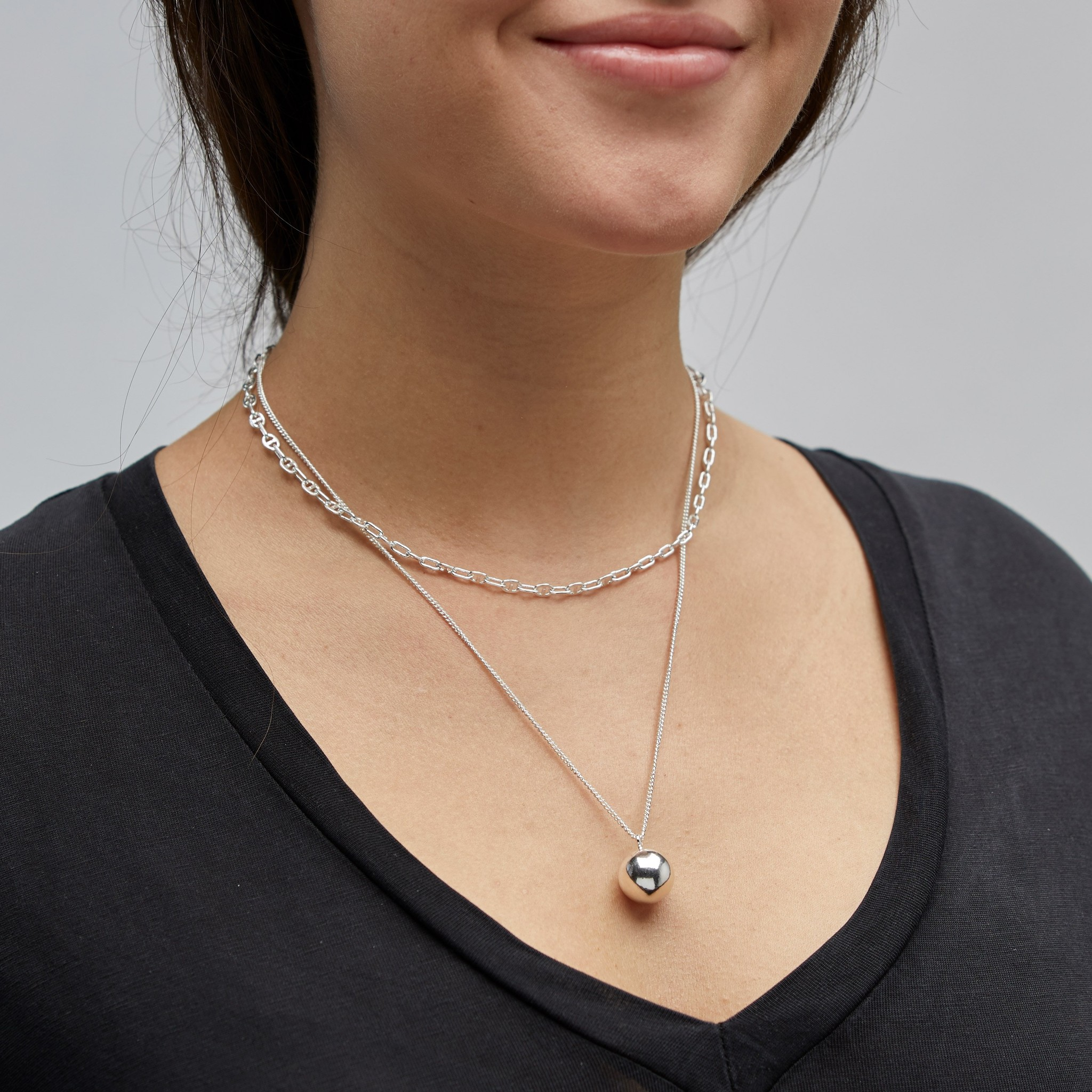 Pilgrim Pilgrim Silver 2-in-1 Necklace Set : Earth