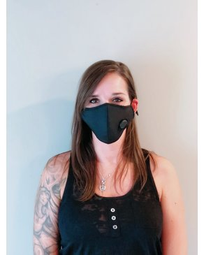 Boss Masks Black Filter Face Mask x 5