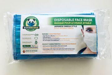 Boss Masks Disposable Masks - 5 x 10 Packs (50 masks total)