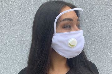 Boss Masks White Filter Face Mask With Eye Shield x 5