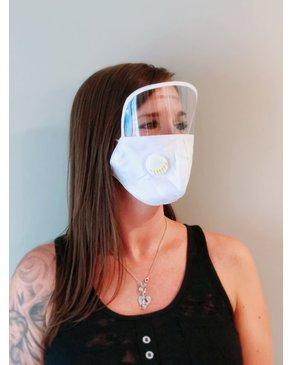 Boss Masks Masque blanc pour adultes avec Visière  X 5