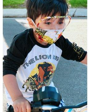 Boss Masks Kids Face Masks w/ Eye Shield X 5 (Hawaiian Themes)