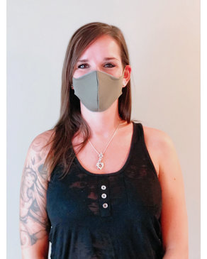 Boss Masks Fabric Face Masks - 5 Pack - CHARCOAL - OLIVE