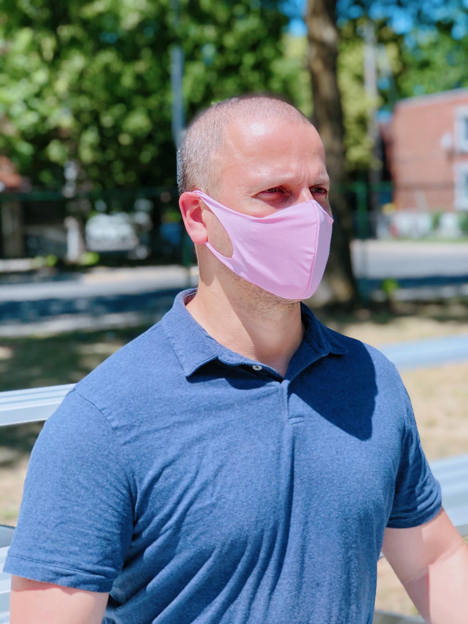 Boss Masks Fabric Face Masks - 5 Pack - PINK