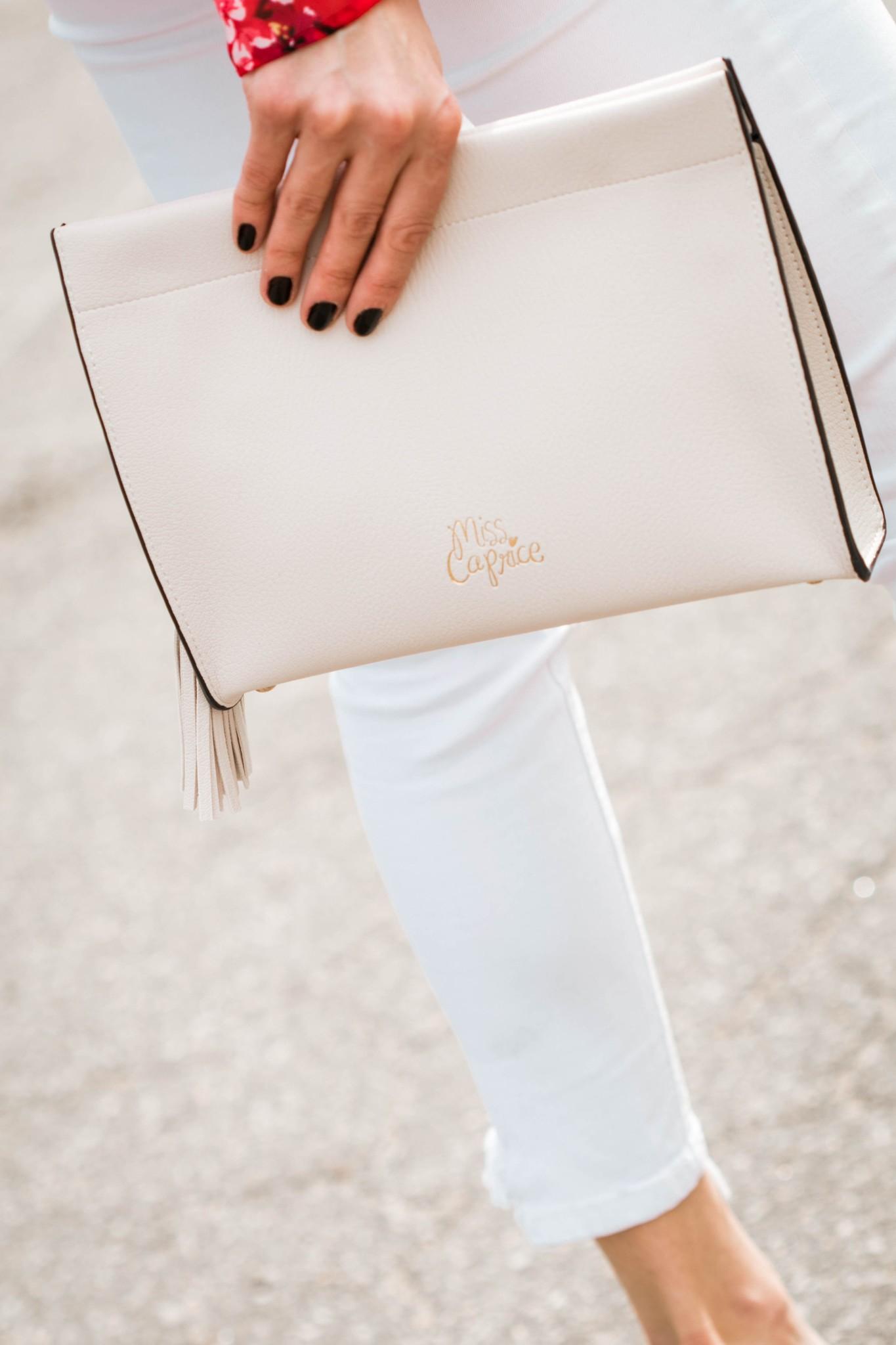 Shop Miss Caprice Julia - Blanc