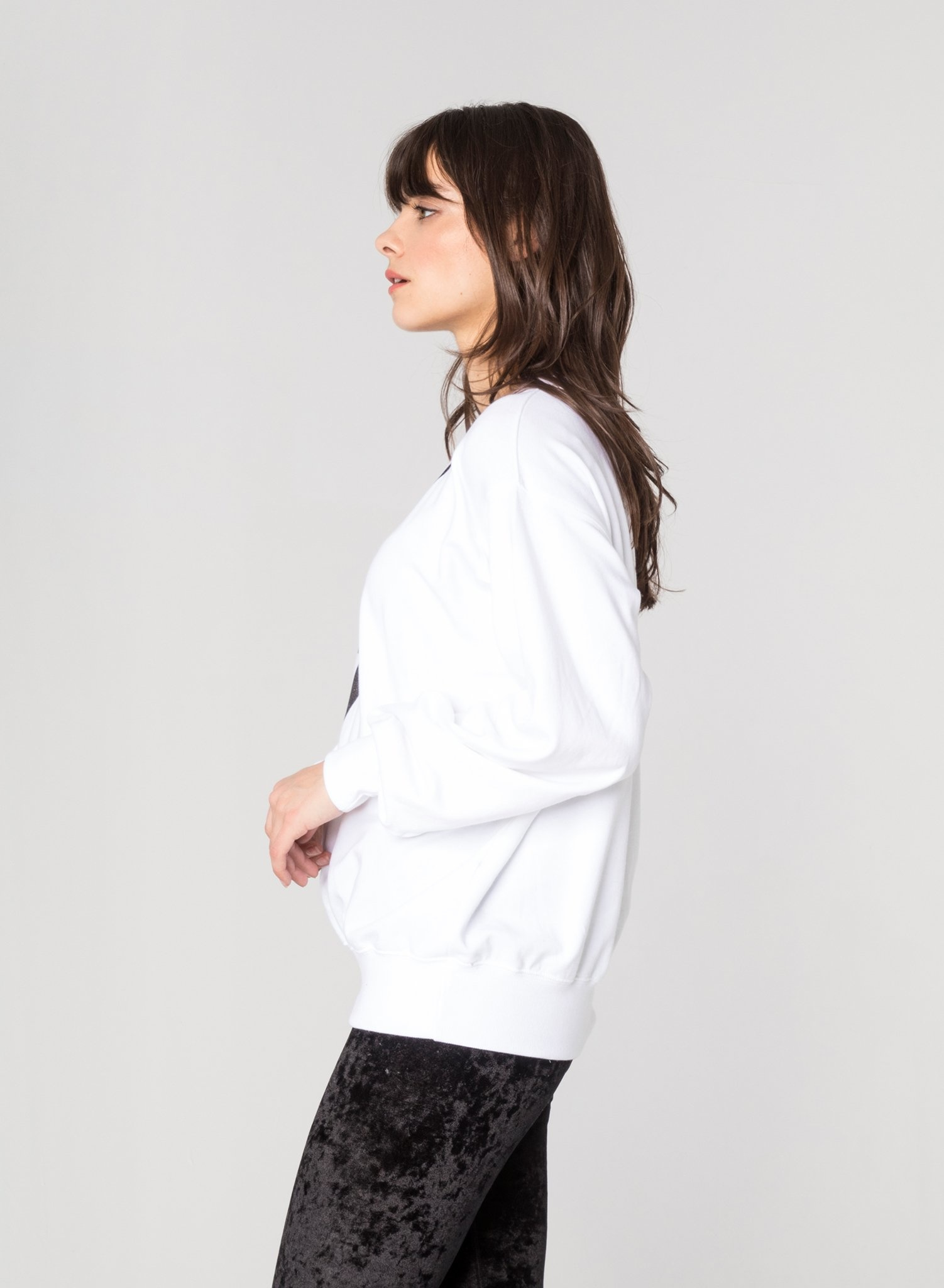 CHRLDR LIGHTNING BOLT - Oversized Crew Neck Sweatshirt