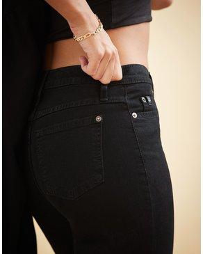 Yoga Jeans Classic Rise Rachel Skinny Overdye Black 34