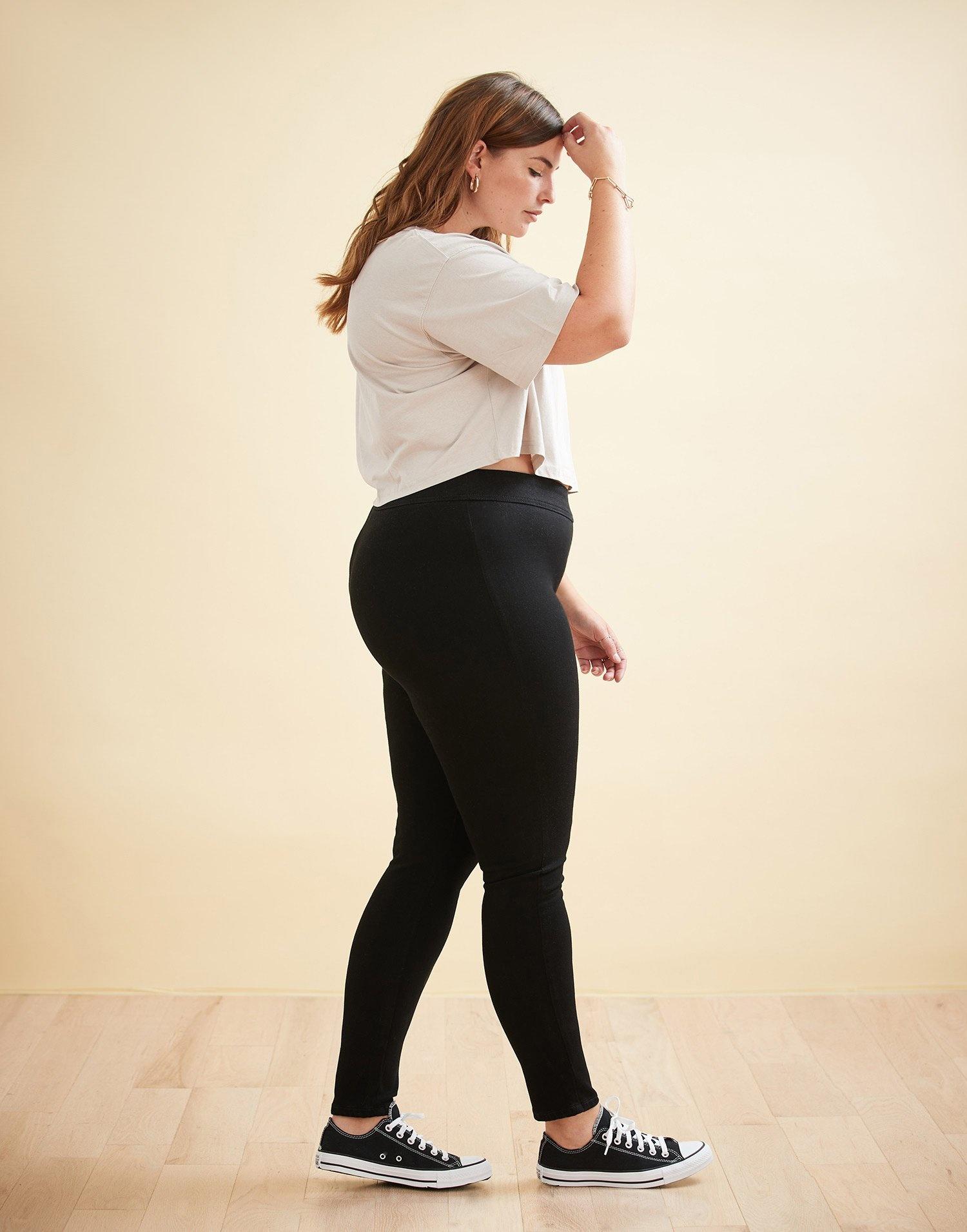Yoga Jeans Taille haute Rachel Skinny Noire Pull On