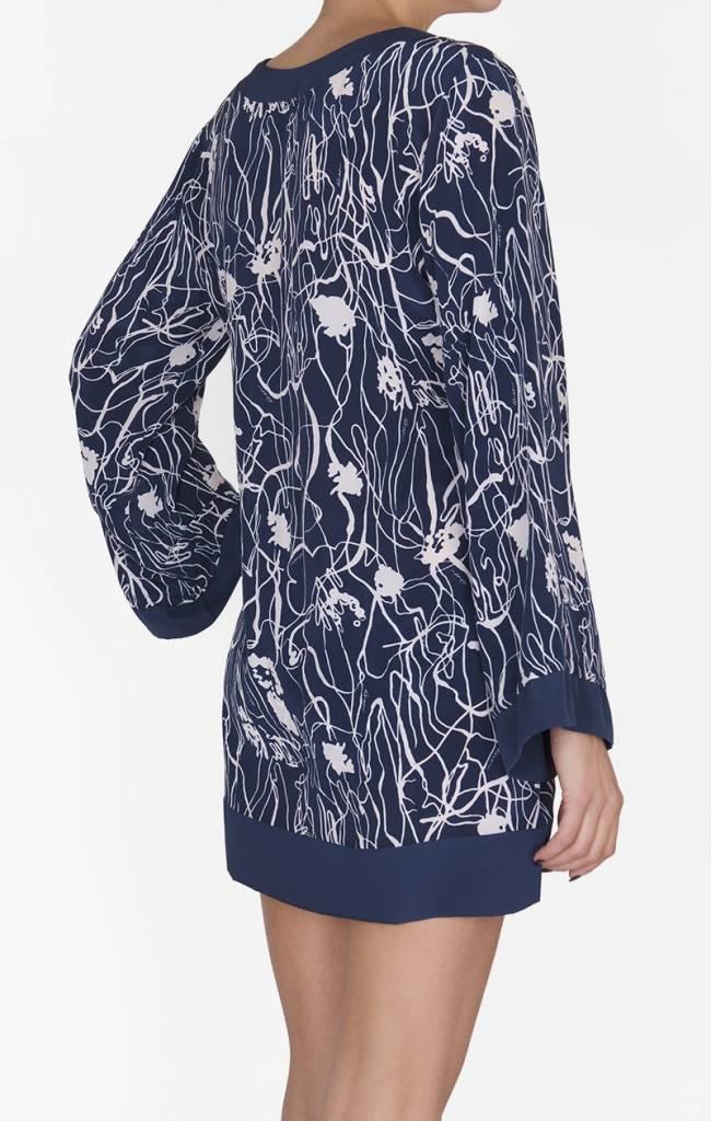 SHAN BLUE VALENTINE - Silk Tunic (Print)