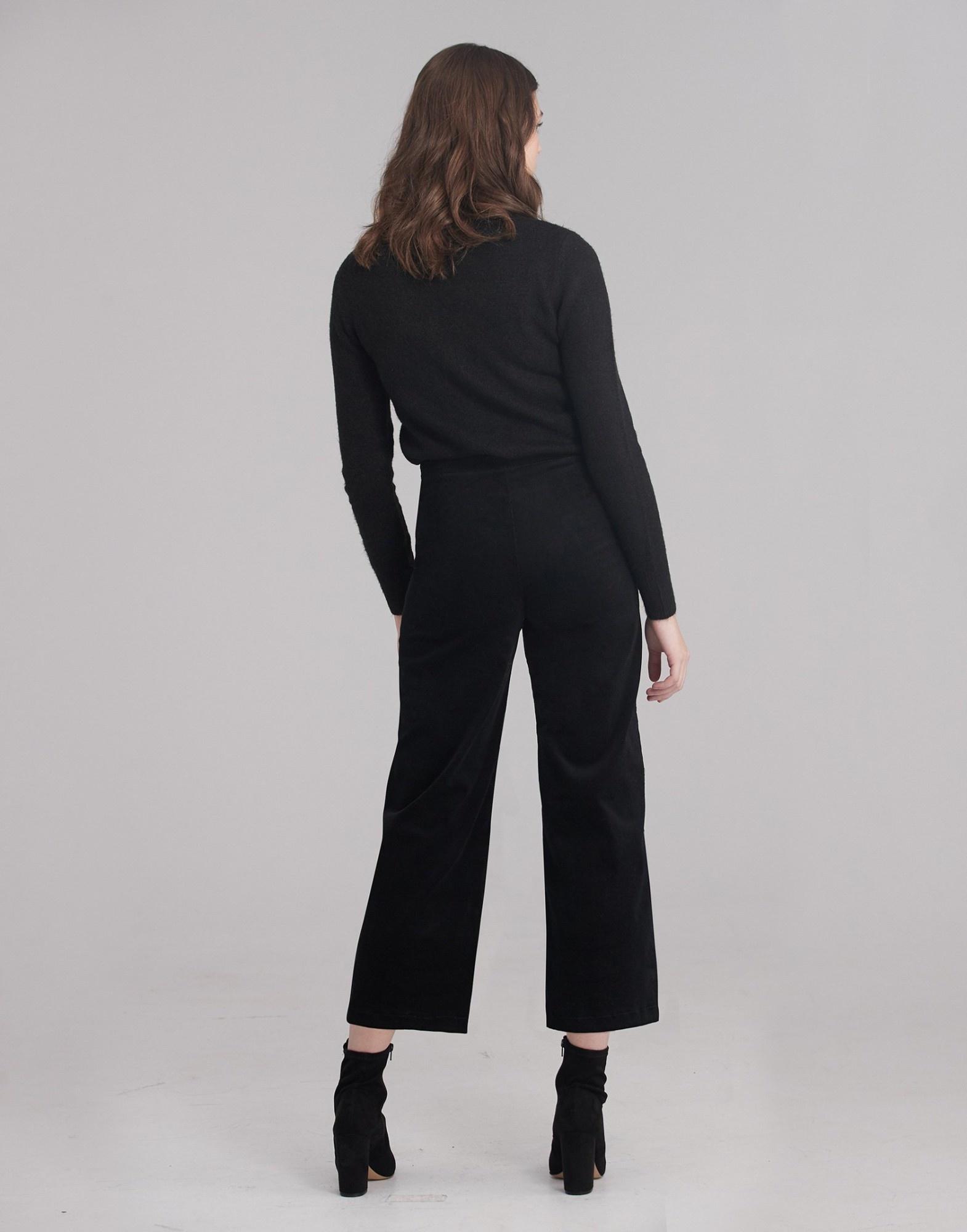 Yoga Jeans LILY WIDE LEG CORDUROY / Black
