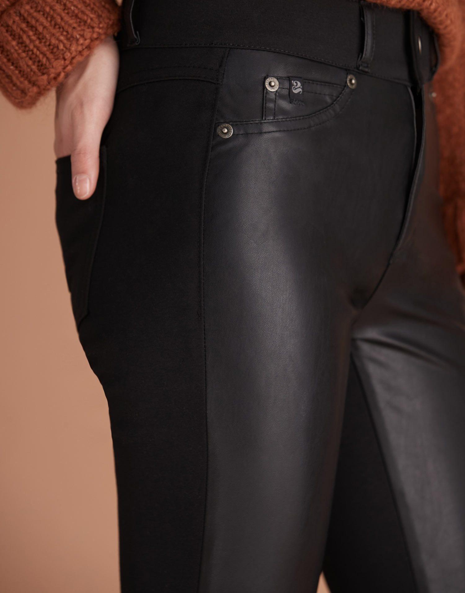 Yoga Jeans Classic Rise Rachel Skinny Pant Black Leatherette