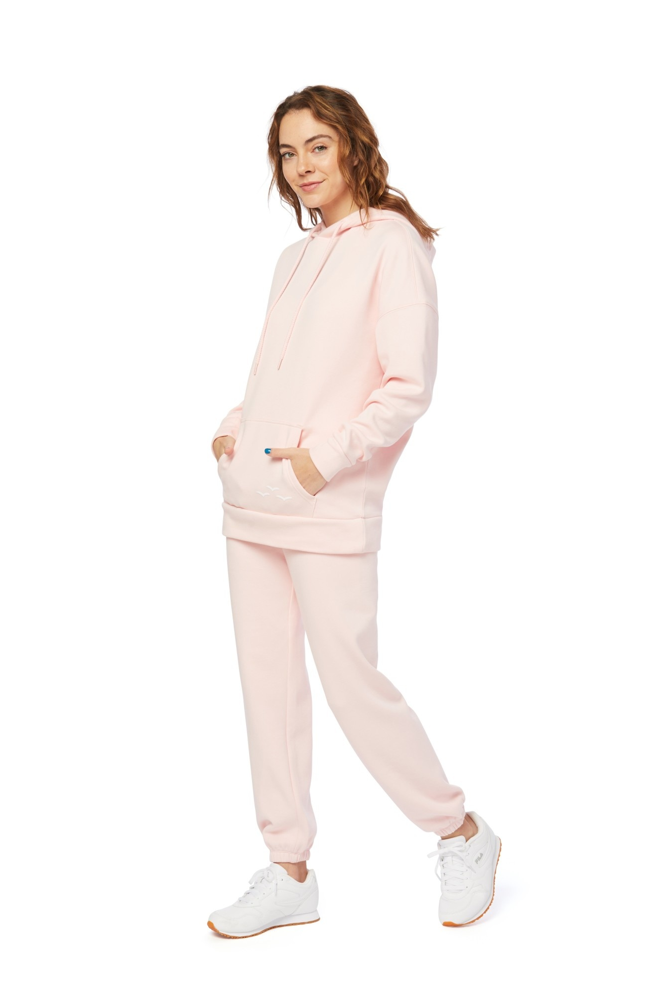 LAZYPANTS Niki & Cooper Ultra Soft Set in Baby Pink